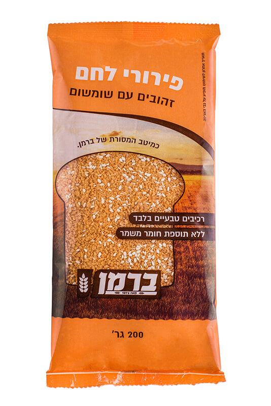 תמונת מוצר של פירורי לחם זהובים עדינים עם שומשום